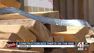 Suspects steal lumber from Lenexa construction site - Video
