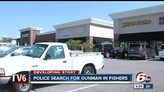 Fishers police search for gunman who shot man in shopping plaza - Video