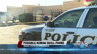 Item that looks like human skull found in dumpster - Video