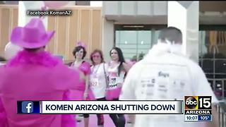 Susan G. Komen foundation closing its doors