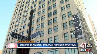 Struggle to maintain affordable housing downtown - Video
