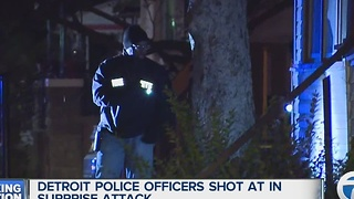Detroit Police officers targeted in shooting - Video