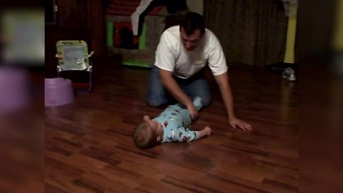 Dad Turns Baby Into A Fidget Spinner