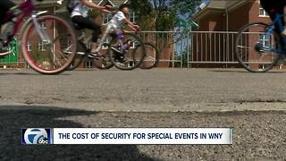 Who pays police to provide security at special events? Amherst, Buffalo looking at policies--6pm - Video