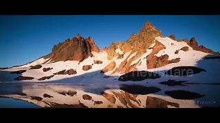 Time-lapse footage of mountain scenes across North America - Video
