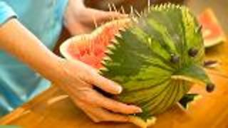 Fruit Carving Watermelon Hedgehog - Video