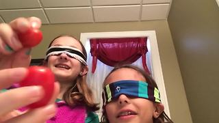 """""""Blindfolded Food Tasting Challenge: """"It's Not A Grape, It's A Tomato!"""""""""""