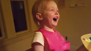 Toddler Finds The Idea Of Snow Totally Hilarious - Video