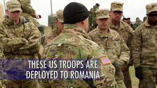 US troops on deployment in Romania - Video