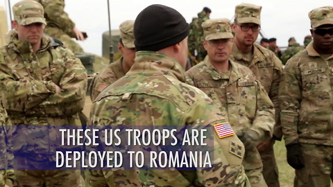 US troops on deployment in Romania