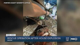 House explosion rescue