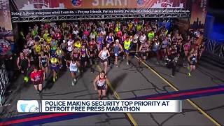 Police making security a top priority at the Detroit Free Press MarathonOn your mark, get set, runners are ready to 'go' for the 40th year of the Detroit Free Press Marathon.  As participants make their final preparations, Detroit police are making th - Video