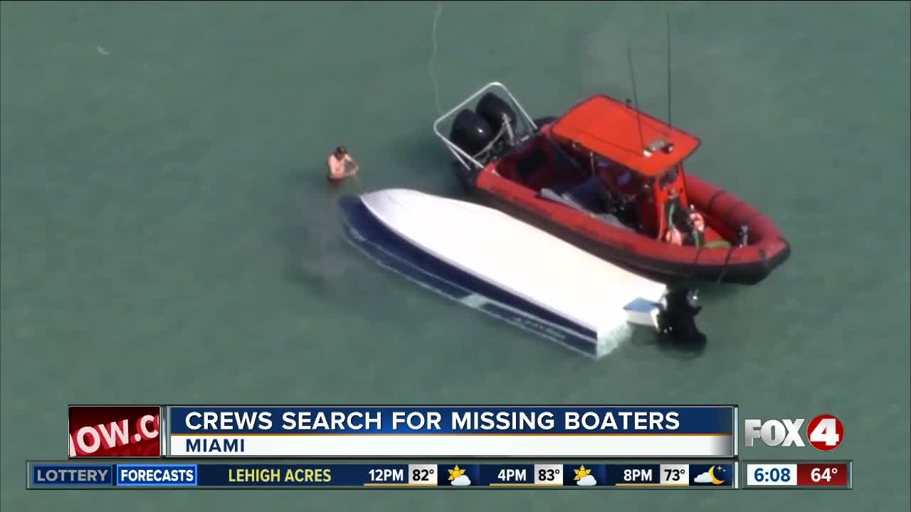 Coast Guard searching for two missing boaters off Florida