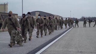Military Troops arrive at Joint Base Andrews to Support National Guard in DC