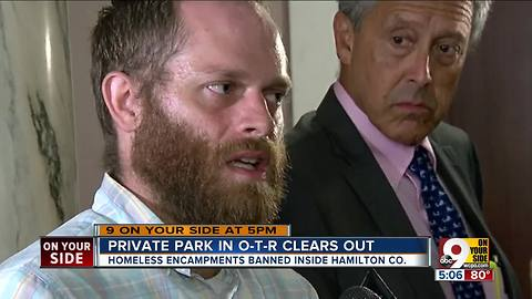 Homeless camp clears after ban becomes permanent