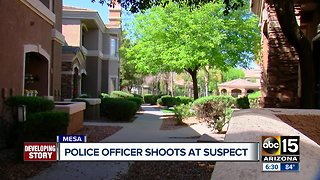 Police officer shoots at suspect in Mesa