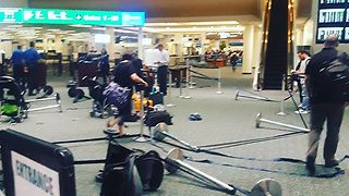 Orlando Airport Terminal Evacuated After Camera Battery Explodes Near Security Checkpoint - Video