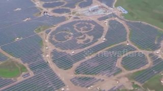 China's adorable panda-shaped solar power station opens to the public - Video