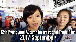 Tourist Films Visit to Pyongyang's International Trade Fair - Video