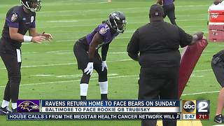 Ravens home to face Bears, rookie QB Trubisky - Video