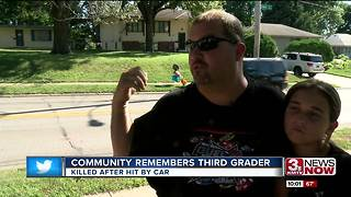 Community remembers third-grader - Video