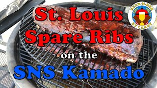 St. Louis Trimmed Spare Ribs on the Slow 'N Sear Kamado in Turbo Slow Mode