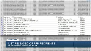 View searchable database of the Michigan businesses that were approved for PPP loans of $150K and up