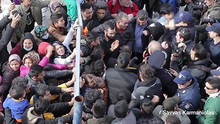 Refugees Block Police from Entering Elliniko Camp in Athens - Video