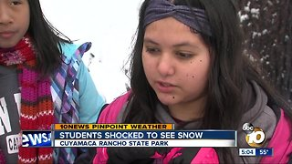 6th-graders learn about science, play in the snow