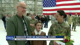 Sendoff For WI National Guard - Video