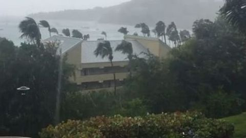 Strong Winds Sweep US Virgin Islands