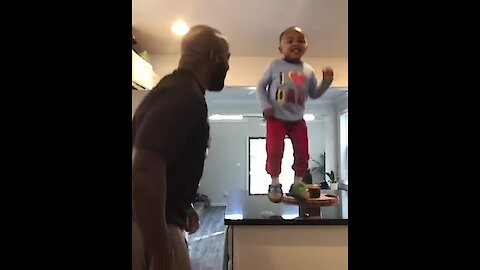Father & son dance off will melt your heart