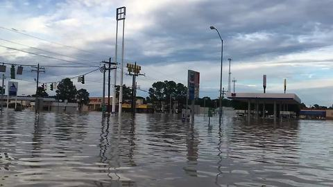 Boat ride through Louisiana streets captures extreme magnitude of flood