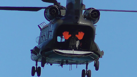 Amazing Close Up Of The Chinook Helicopter At Torbay Airshow