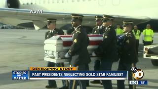 Past presidents neglecting Gold Star Families? - Video