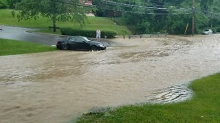 Torrent of Floodwater Poses Problems for Pittsburgh Motorists - Video