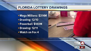 Mega Millions jackpot rises to $314 million for Tuesday's drawing