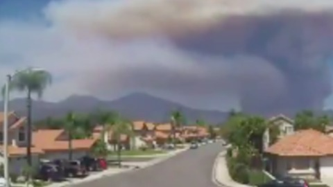 Timelapse Video Captures Holy Fire Erupting