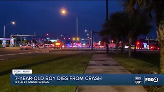 7-year-old boy dies from crash