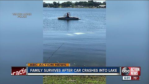 Winter Haven family rescued from sinking car by good Samaritans