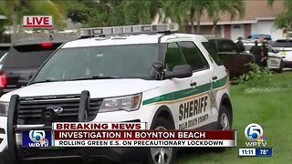 Elementary school in Boynton Beach placed on locked down