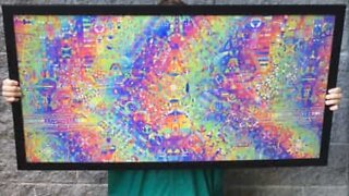 Artists create mind-blowing psychedelic lenticular art