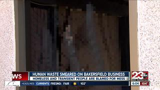 Human feces smeared all over a Bakersfield business - Video