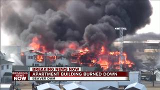 Beaver Dam apartment burned down by fire crews - Video