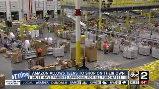 Amazon lets teens shop on their own - Video