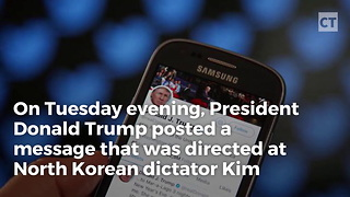 Trump Uses Twitter To Threaten Kju With Red Button - Video