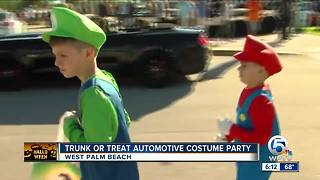 Trunk or Treat automotive costume party held in West Palm Beach - Video