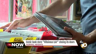 """Villainous"" comic book store suffers defeat - Video"