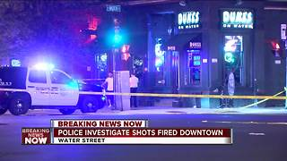 Police respond to report of shots fired outside downtown Milwaukee bar - Video