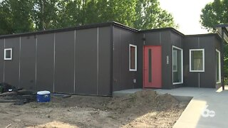 Shipping container housing development opens in Boise